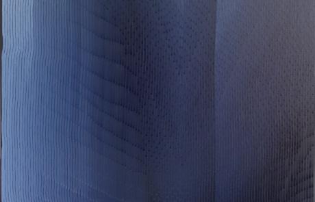 BTI Indigo 02 - 100 x 100 cm - Huile sur toile - 2021
