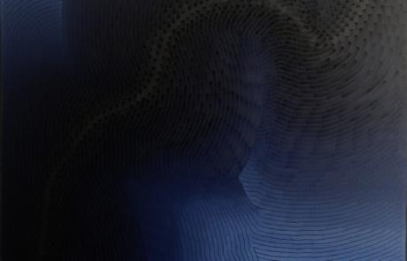 BTI Indigo 03 - 120 x 120 cm - Huile sur toile - 2021