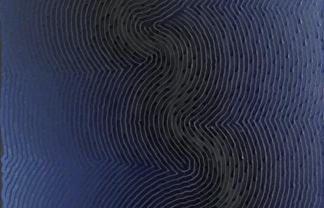 BTI Indigo 05 - 60 x 120 cm - Huile sur toile - 2021