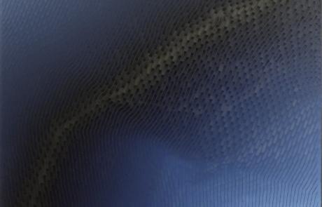 BTI Indigo 06 - 120 x 120 cm - Huile sur toile - 2021