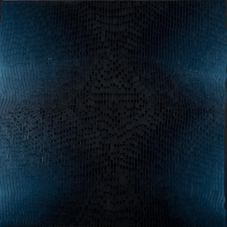 WTB Indigo 07 - 130 x 130 cm - Huile sur toile - 2021 ©Bruno Campagnie