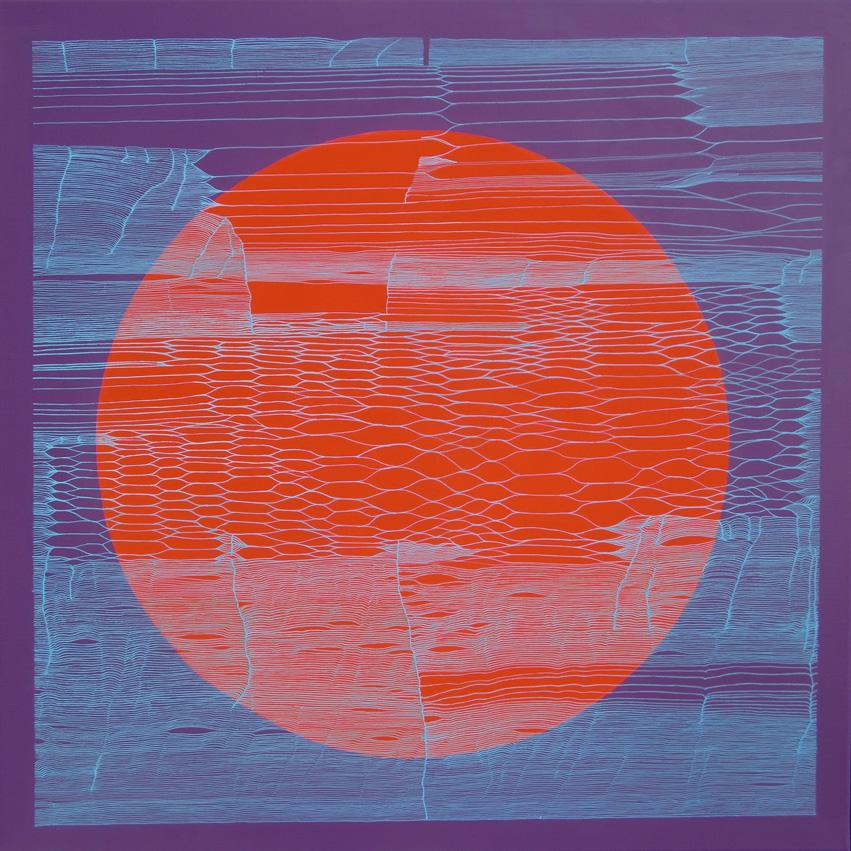 Weaving 0506 - 80x80 cm - Acrylique sur toile, 2016