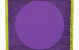 Weaving-violet-jaune-50x70cm-acrylique-sur-toile-2018