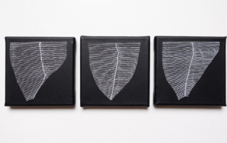 Weavings-N&B-triptyque-3x10x10cm-acrylique-sur-toile-2019