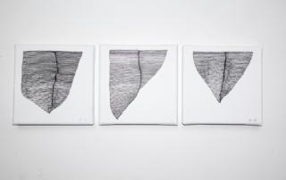 Weavings BN-triptyque-3x10x10cm-acrylique-sur-toiles-2019